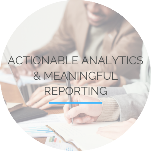 Actionable Analytics and Meaningful Reporting